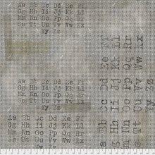 2 yds end of bolt Tim Holtz Eclectic Elements - Font Black - PWTH096.BLACK