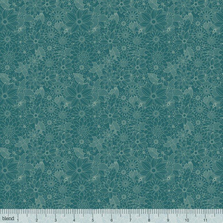 Floral Pets - Sigrid Turquoise - 129.101.04.1
