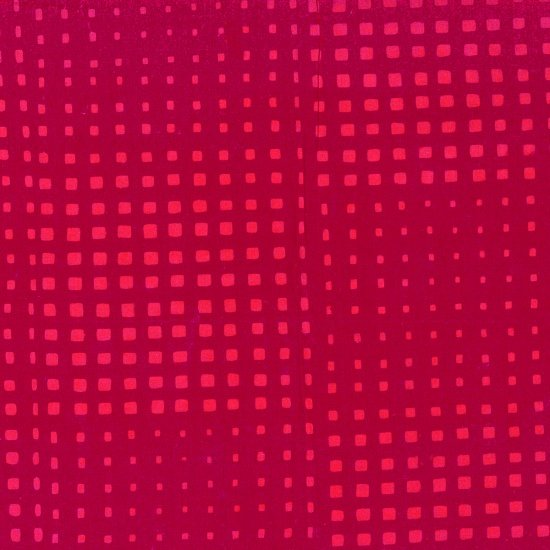 Hoffman Hand Dyed Batiks - Random Squared Deep Red - 154-629