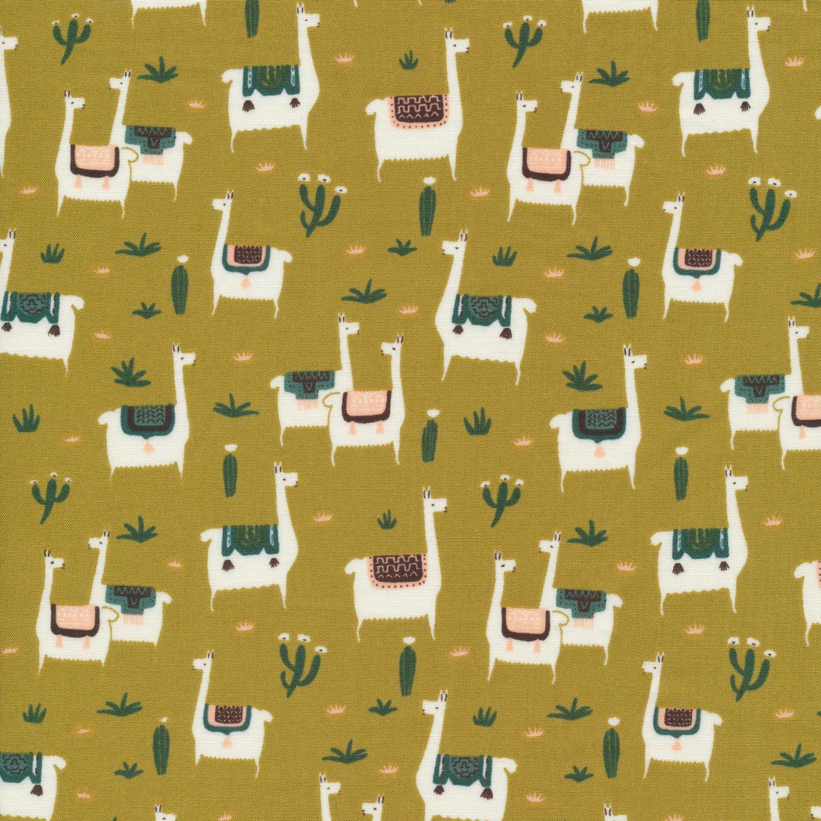 Cloud 9 Faraway Places - Llama Life Mustard - 207702