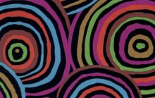 Kaffe Fassett Backing Fabric - Circles Black - QBGP002.2BLAC