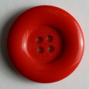 Dill Button, Poly, Red