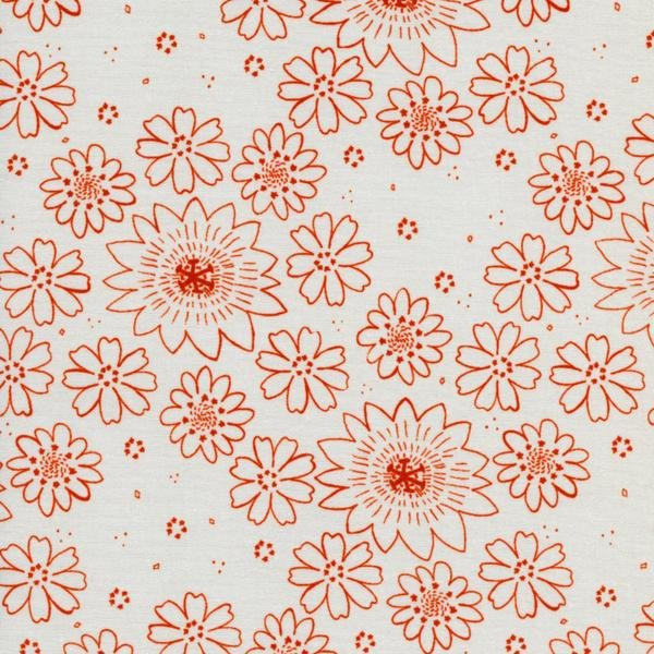 Cotton & Steel Paper Bandana - Posy Copper