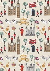Lewis & Irene - Poodle & Doodle - Royal Britannia on Cream  A344.1