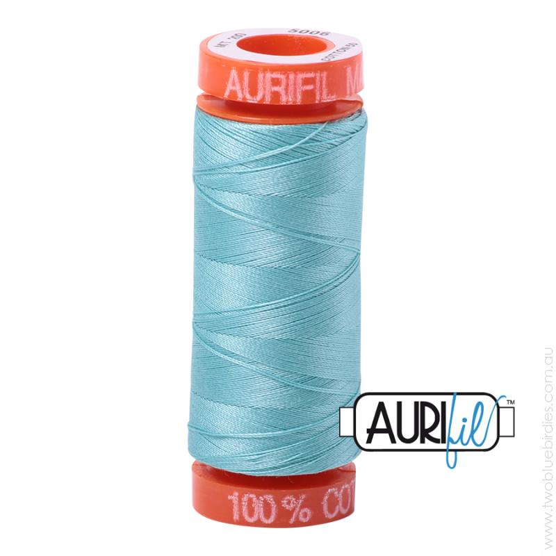 Aurifil #5006 (200m) Cotton Mako Thread Light Turquoise