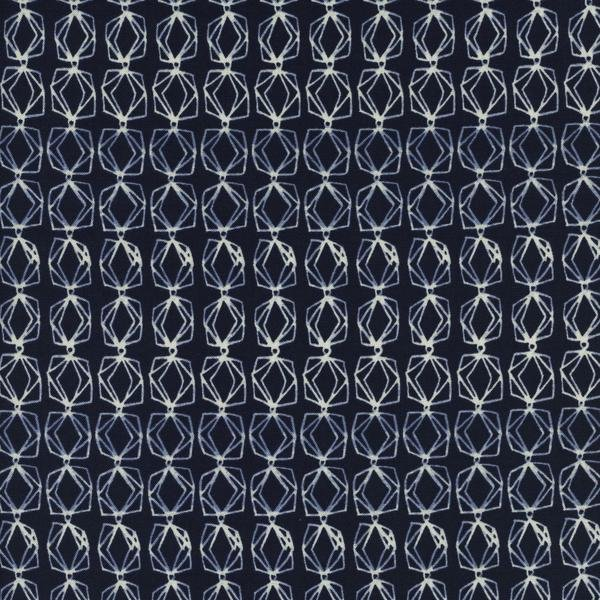 1 3/4 Yd End of Bolt Cotton & Steel Bluebird 5049-001