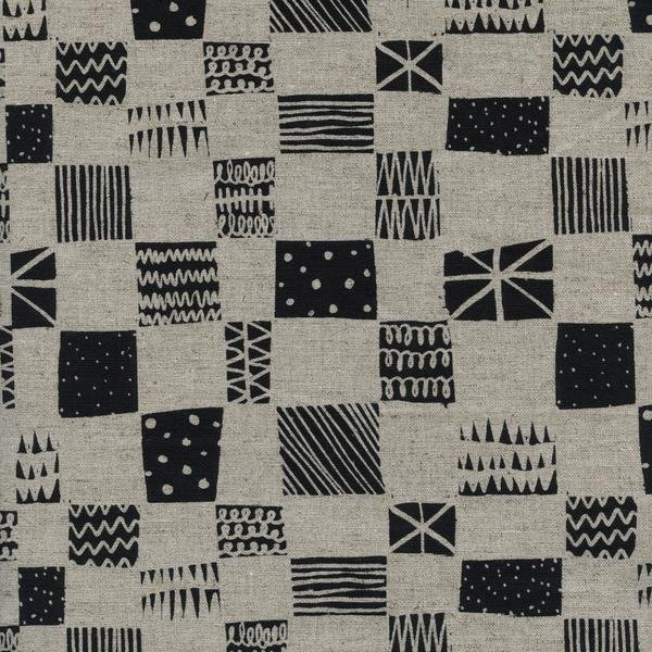 1 7/8 End of Bolt Cotton and Steel Black and White 5060