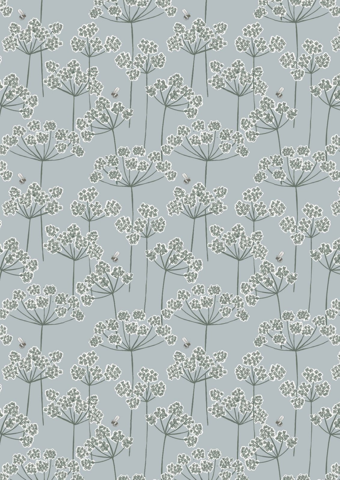 Country Life Reloved Cow Parsley & Bee Grey
