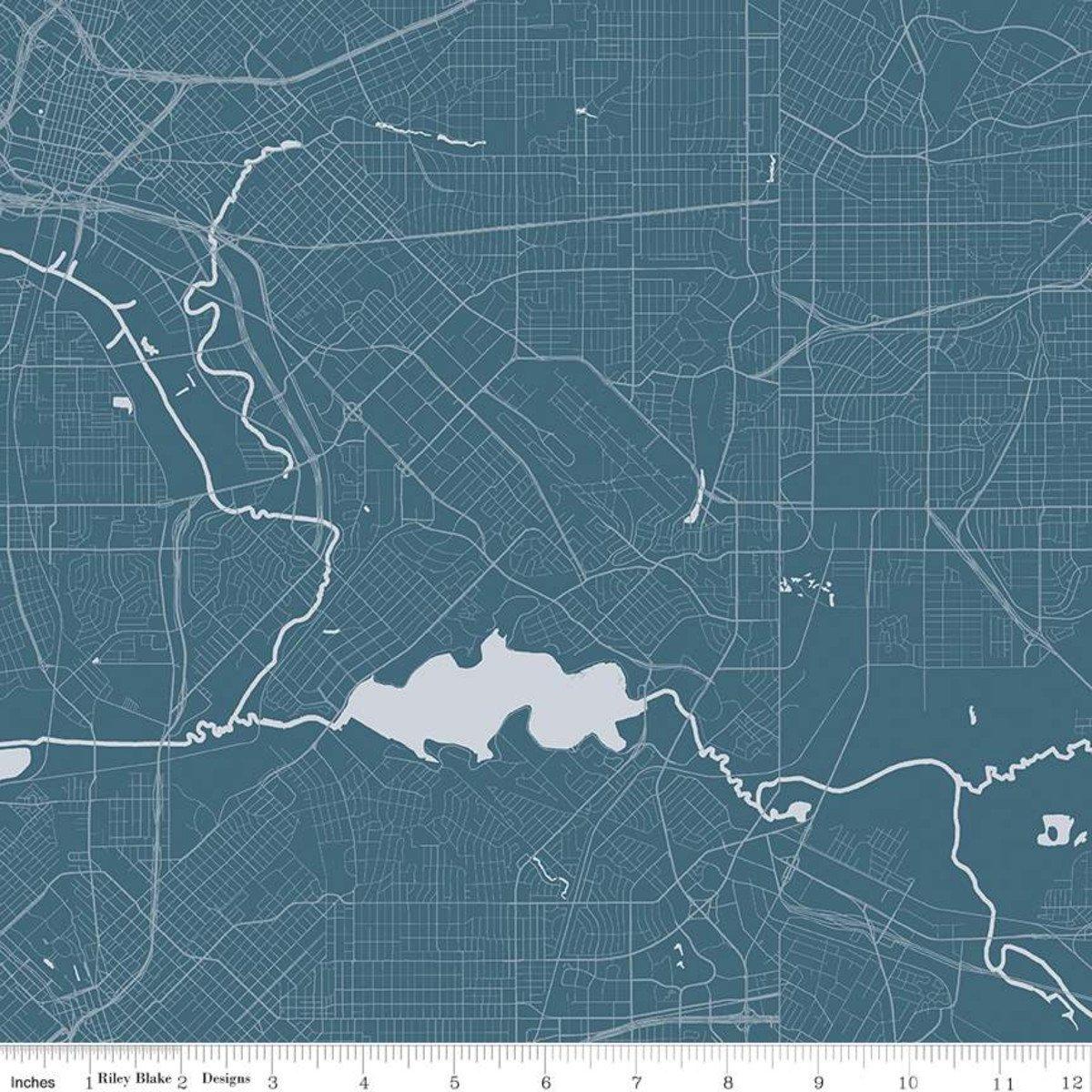 Destinations Map - Blue C10030-BLUE