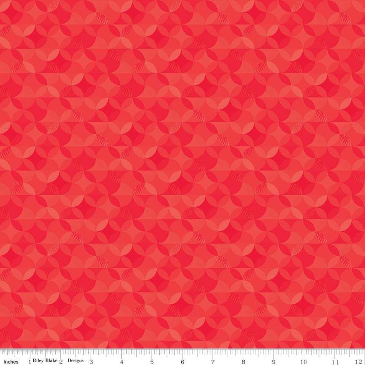Riley Blake Crayola Kaleidoscope Scarlet - CR480-SCARLET