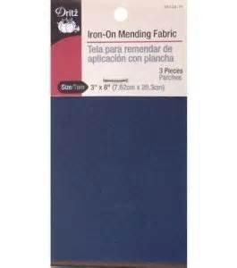 Iron on Mending Fabric Assorted Dark 3x8