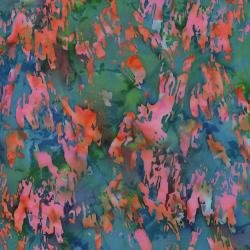 Blossom Batiks Cascade - Paint Texture - Coral Fabric - FF303-CO3
