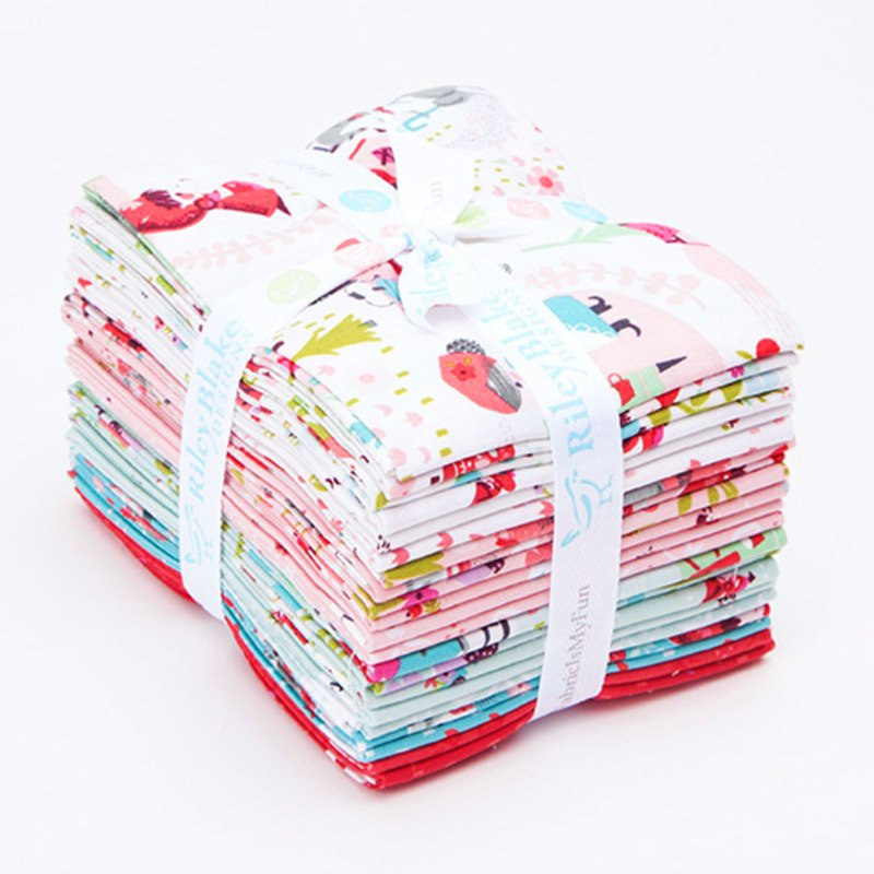 Riley Blake Little Red in the Woods Fat Quarter Bundle 21 Pieces