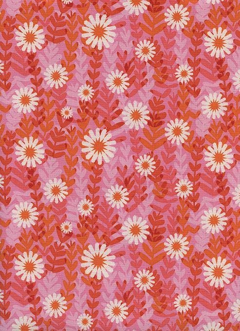 End of Bolt 3/8 yd Freshly Picked Pink Daisies M0062-001