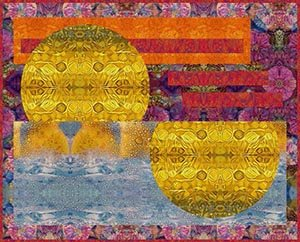 Golden Hour Sunset Quilt Free Download