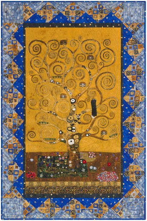 Gustav Klimt Tree of Life Quilt Free Download
