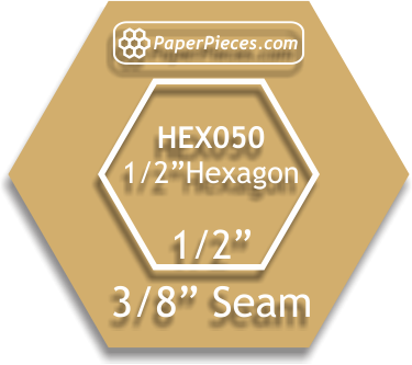 1/2 Hexagon Template