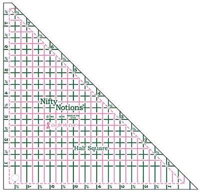 NN Half Square Ruler