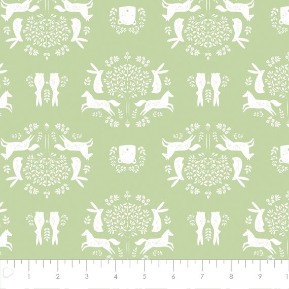Pretty Little Woods - Friend Outlines - Green - 21180503-02