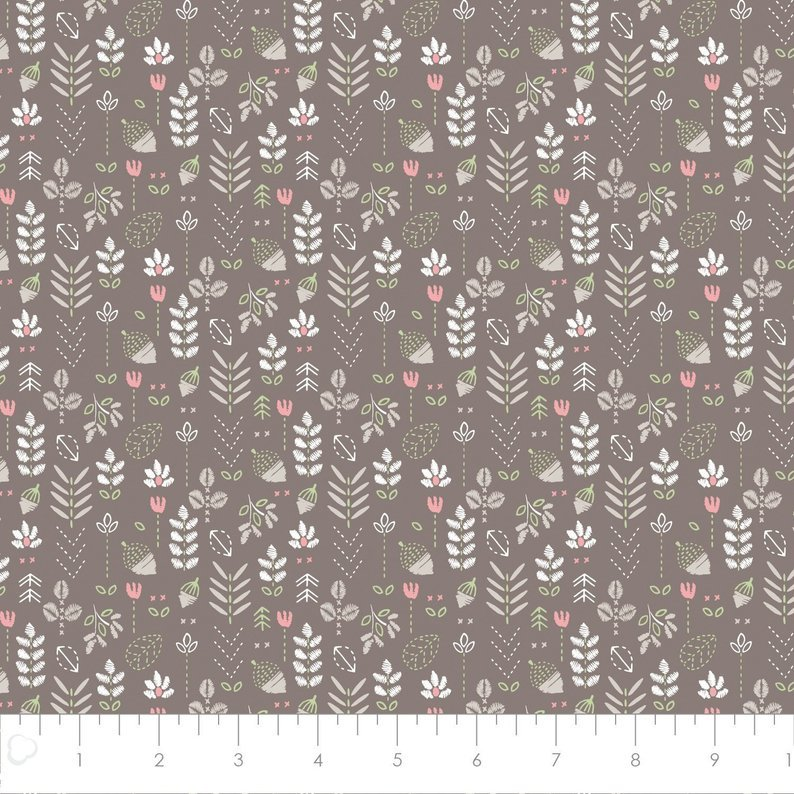 Pretty Little Woods - Field of Flowers  - Taupe - 21180506-02