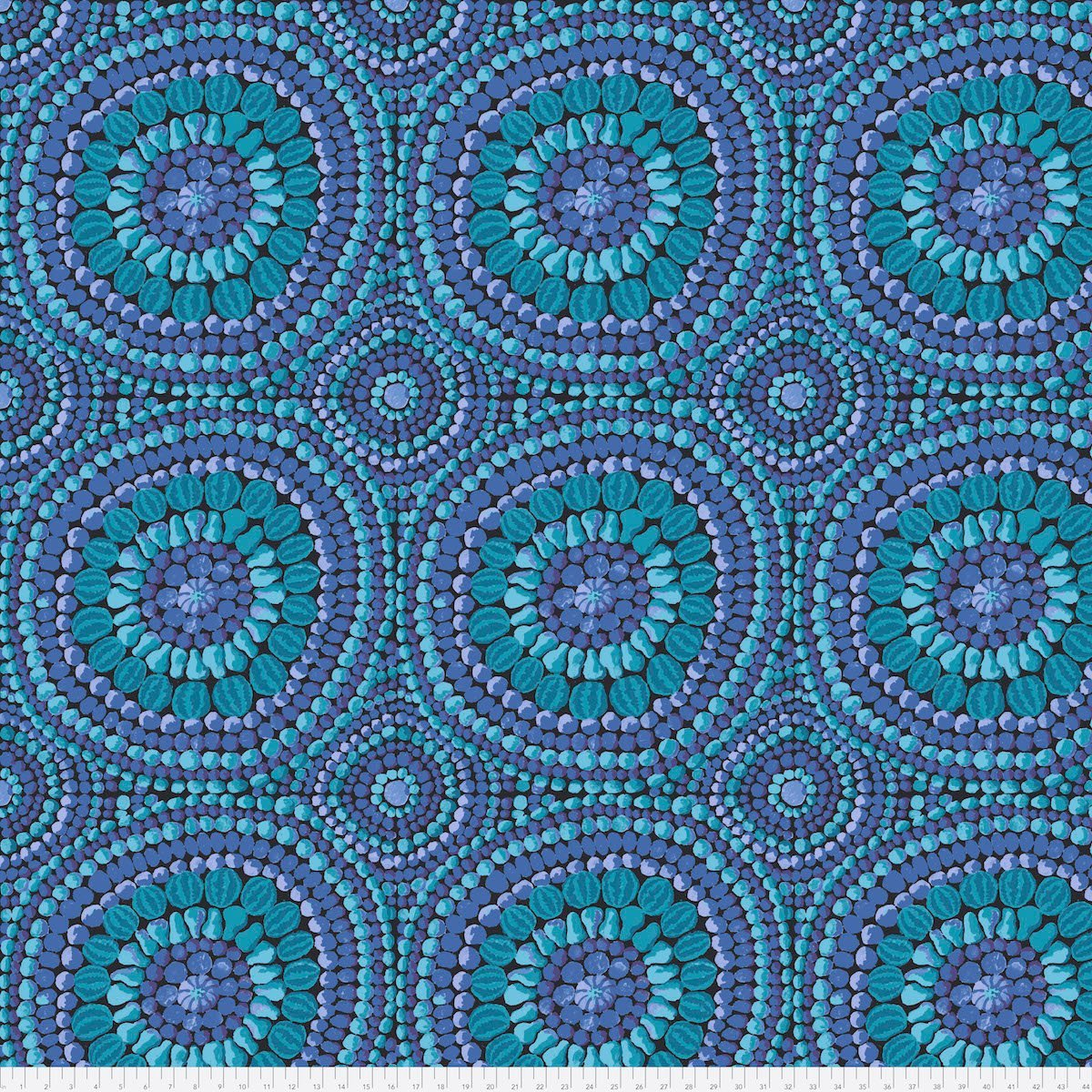 1-1/8 Yard End of Bolt - Kaffe Fassett Backing Fabric - Mandala Blue - QBGP003.2BLUE