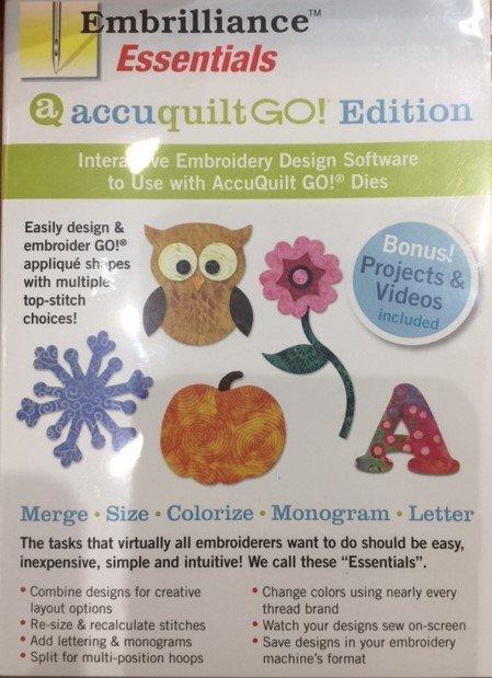 Accuquilt GO! Embrilliance Essentials Software