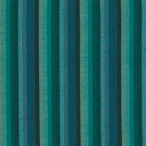 1-5/8 Yard End of Bolt - Kaffe Fassett Woven Multi Stripe Deep Sea