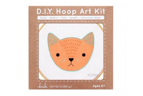 D.I.Y. Hoop Art Kit - Kitten