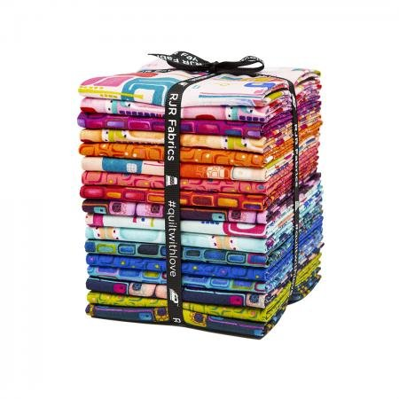Floret Geometric Fat Quarter Bundle 17 Pieces