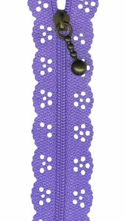 Sue Daley 8 Lilac Lace Zipper