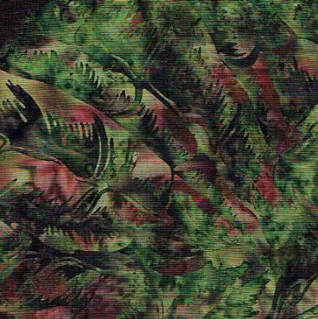 Hoffman M2740-69 Bali ChopTropical Leaves Jungle