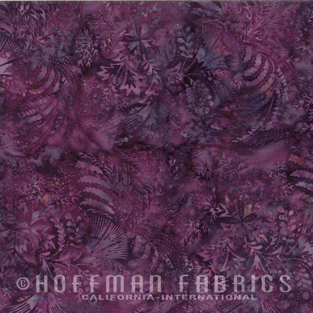 Hoffman M2760-14 Bali Chop Mixed Leaves Purple