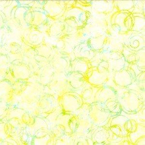 Hoffman Bali Chop Circles -  Yellow