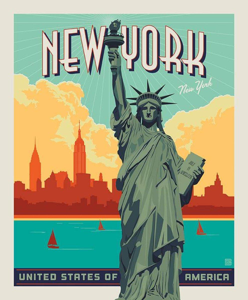 Destinations Panel - Lady Liberty P10025-LIBERTY