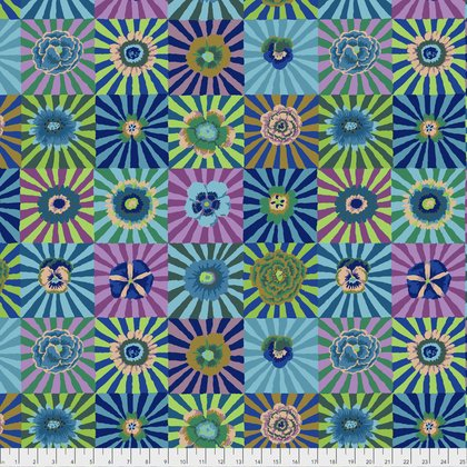End of Bolt - 1 1/2 yds - Kaffe Fassett - Sunburst - Blue - PWGP162BLUEX