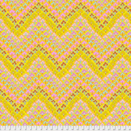 Kaffe Fassett Collective Fall 2017 - Trefoil - Yellow - PWGP167YELLO