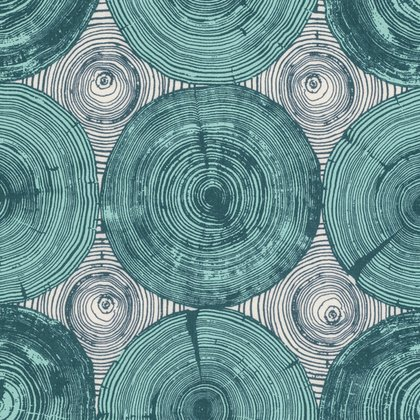 Free Spirit Modernist by Joel Dewberry - Tree Ring Bling Peacock
