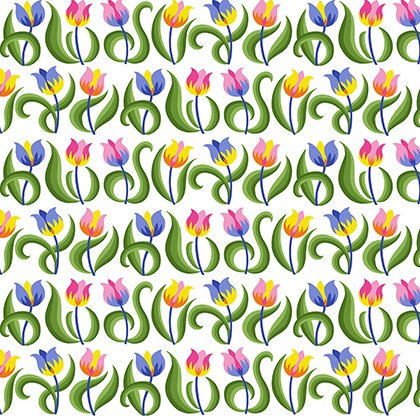 Spring Fever by Jane Sassaman - Mini Tulips
