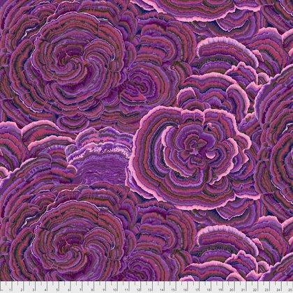 1 Yard End of Bolt - Kaffe Fassett Collective Fall 2017 - Tree Fungi - Purple - PWPJ082PURPL