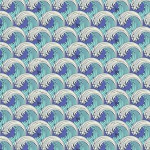 Zuma Aquamarine White Caps