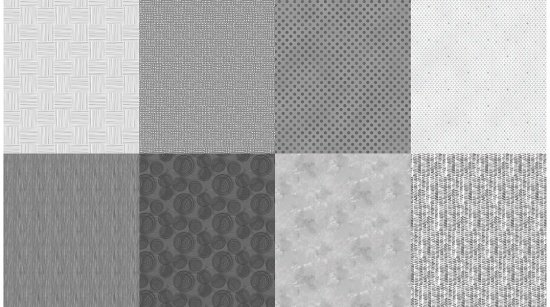 Two Yard Cut - Details - A Hoffman Spectrum Print - Pewter - Q4481-76