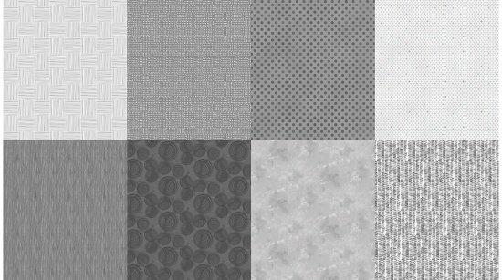 Fat Quarter Bundle - 8 pieces - Details - A Hoffman Spectrum Print - Pewter Q4481-76