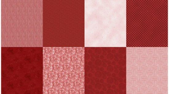 Fat Quarter Bundle - 8 pieces - Details - A Hoffman Spectrum Print - Scarlet - Q4481-78