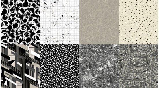 Fat Quarter Bundle - 8 pieces - Nineteen Eighty-Five - A Hoffman Spectrum Print - Ink - Q4547-685