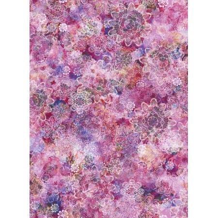 RJR Arcadia - Crochet Blossoms Fuchsia Digiprint Fabric - RJ806FU2D