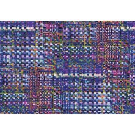 RJR Arcadia - Checkered Indigo Digiprint Fabric - RJ809IN1D