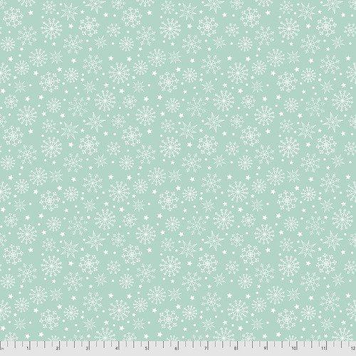 Snowy Day - Snowflake Aqua - FNSP006