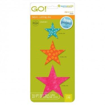 Accuquilt GO! Star Fabric Cutting Die - 2, 3, 4