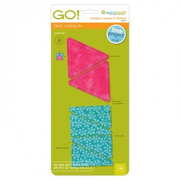 Accuquilt GO! Triangles in Square Fabric Cutting Die (3 Finished)