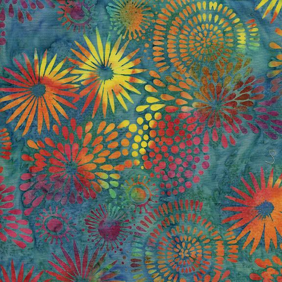 B Lg Mixed Floral - Bermuda